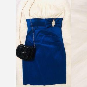 La Scala Prom Dress Strapless Mini Pleated Top
